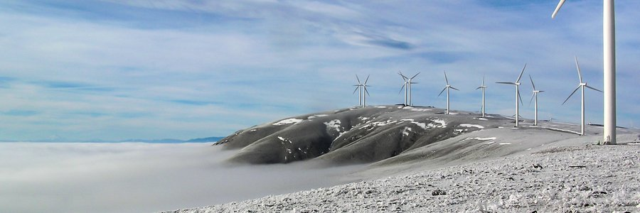 Wind farm winter
